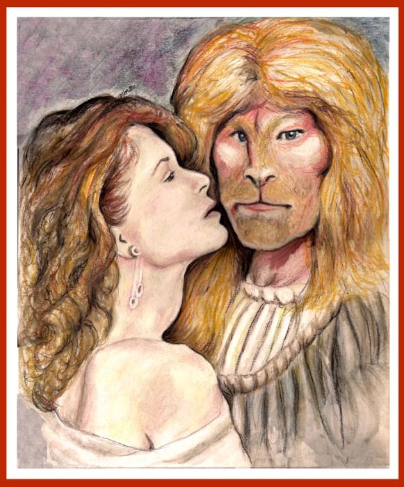 Linda Hamilton, Ron Perlman by Christine